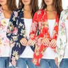 Women's Floral Draped Cardigan