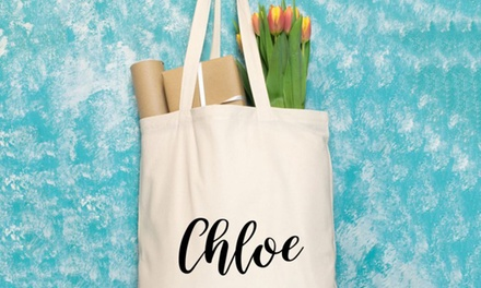 1 o 2 bolsos de mano personalizables con asas largas con Personalised Gift Market (hasta 70% de descuento)