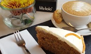 Herr von Tanne Salatbar: 1 der 2x Kaffee-Spezialitätäten und 1 oder 2 Stück Kuchen nach Wahl bei der Herr von Tanne Salatbar (bis zu 36% sparen*)