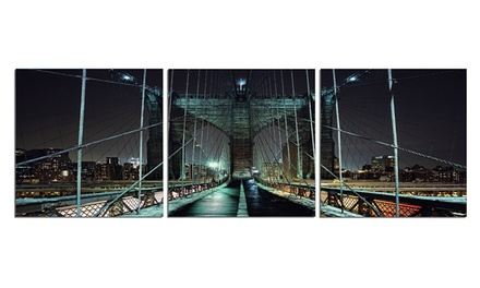 Multi-Panel Scenic Photography on Gallery-Wrapped Canvas