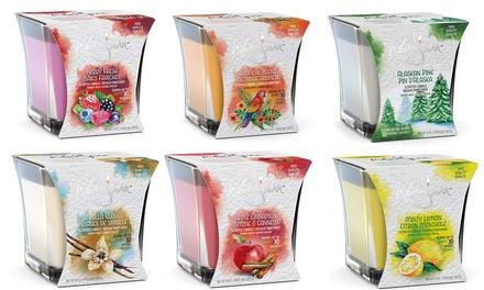 Set 6 candele profumate White Swan