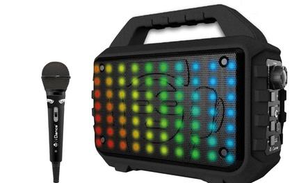 Altavoz Bluetooth iDance Blaster 400 con micrófono y luces de discoteca