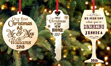 Personalised Christmas Ornament: One $9.99, Two $17.95, Three $26.95 or Four #34.95 Don't Pay Up to $104