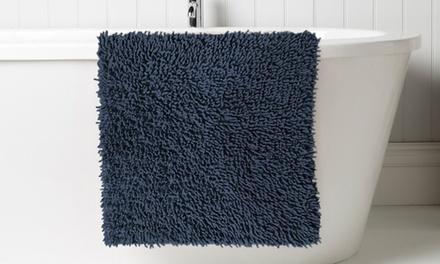 Two-Piece Soft-Touch Cotton Shaggy Bath Mat Set