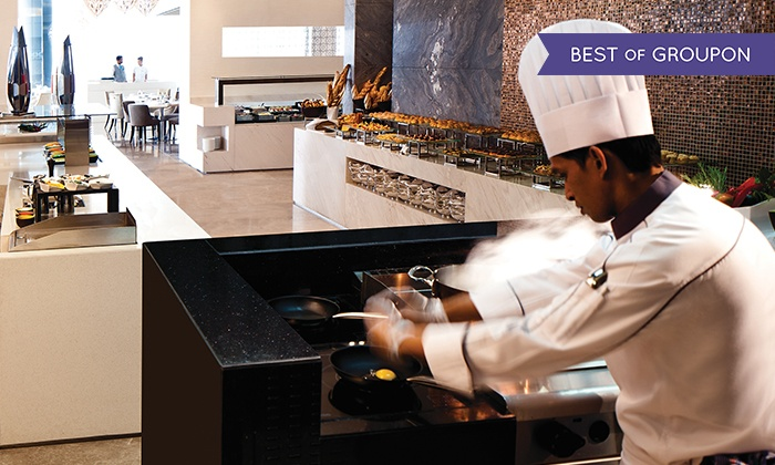Breakfast, Lunch, or Dinner Buffet with Drinks for Up to Six at Rosewater-Jumeirah at Etihad Towers (Up to 55% Off)