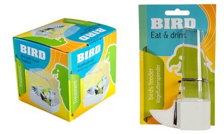 Set d'outils pour cage d'oiseaux : Maison de bain, mangeoire et échelle pour oiseaux
