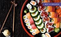 Sushi-Mix-Platte inkl. Aperitif für zwei oder vier Personen im Sushi And Grill Gourmet (bis zu 46% sparen*)