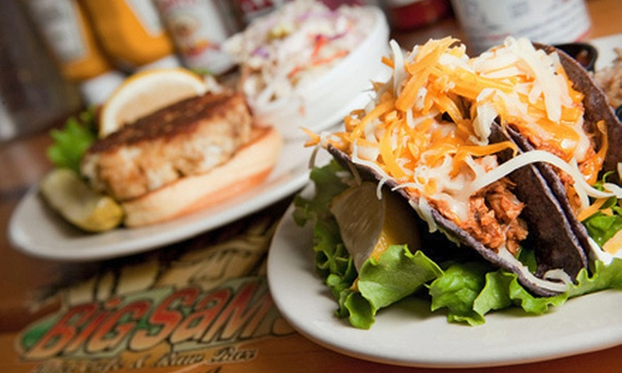 Big Sam's Inlet Cafe & Raw Bar - Dam Neck Naval Air Station: Seafood and Grill Cuisine for Breakfast, Lunch, or Dinner at Big Sam's Inlet Cafe & Raw Bar (Up to 53% Off)