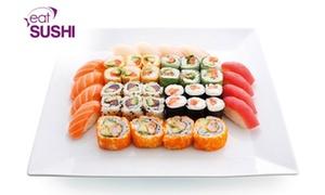 Eat Sushi Montigny-le-Bretonneux: Plateau de sushis et makis, option brochettes pour 2 ou 4 personnes dès19,99 €chezEat Sushi Montigny-le-Bretonneux