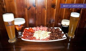 The Clover Irish Tavern Mirasierra : Degustación de cervezas para 2 o 4 con ibéricos de Guijuelo desde 9,95 € en The Clover Irish Tavern Mirasierra