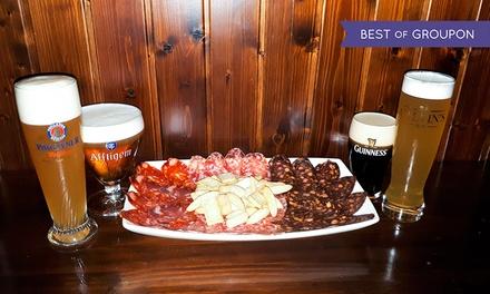 Degustación de cervezas para 2 o 4 con ibéricos de Guijuelo desde 9,95 € en The Clover Irish Tavern Mirasierra