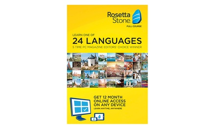 Language Course Subscription: 6 $79, 12 $119 or 24 Months $159 from Rosetta Stone Up to $336.78 Value