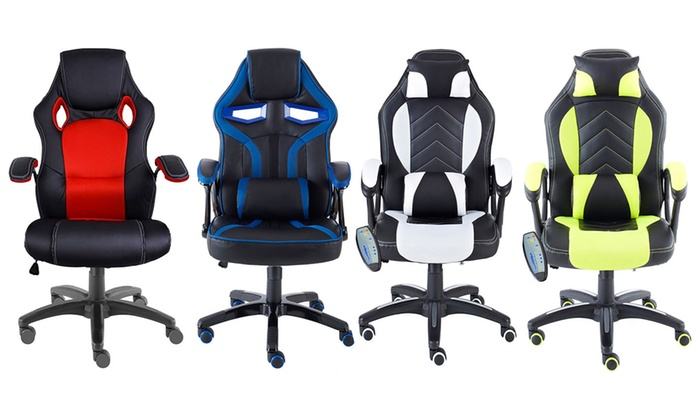 Neo Turbo or Massage Recliner Racing-Style Office Chair from £49.98