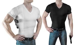 Concealment Clothes Men's V-Neck Concealed Carry Holster Undershirt