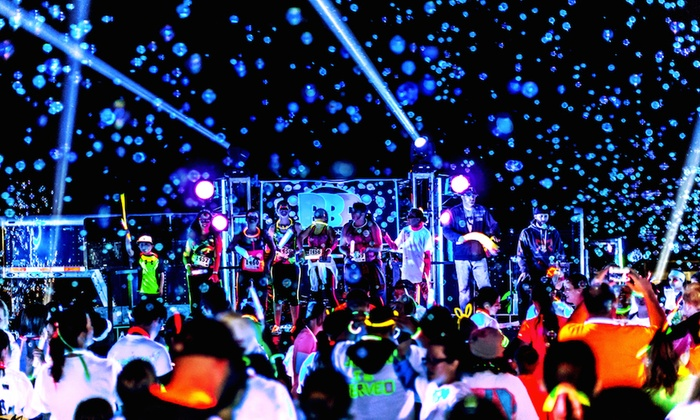 Blacklight Bubble Party 5k - Riverview Park: Race Entry for One or Two on Saturday, April 25 to the Blacklight Bubble Party 5K (50% Off)