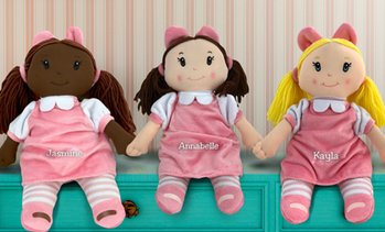Up to 49% Off Custom Embroidered Little Darlings Plush Dollies