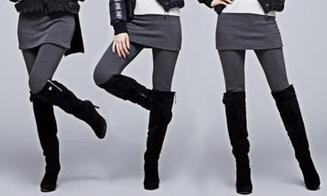 1 oder 2 Paar Damen-Leggings in Schwarz oder Grau und in der Größe nach Wahl