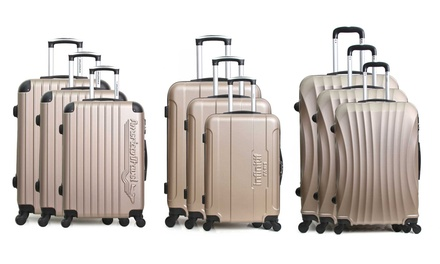 Set 3 valises en ABS coloris Champagne