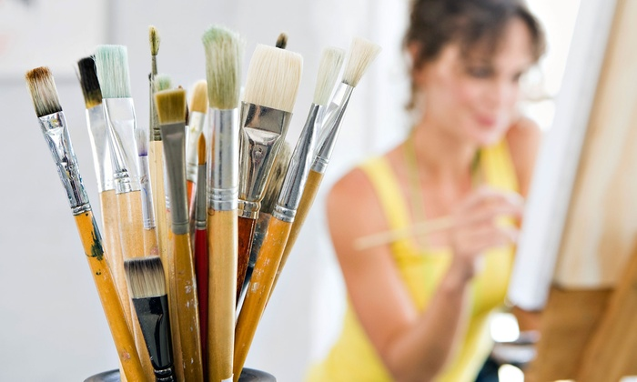 Sip Dip-n-Doodle - Maple Leaf Square: Painting Class with Glass of Wine or Beer for One, Two, or Four at Sip Dip-n-Doodle (Up to 53% Off)