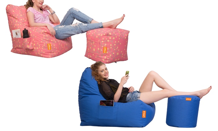 bean bag chair with puffy groupon