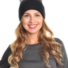 Beanie Hat with Rhinestone Cat Ears (1- or 6-Pack)