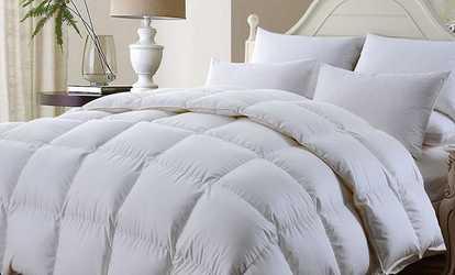 Shop Groupon Goose Feather Quilt And Pillows