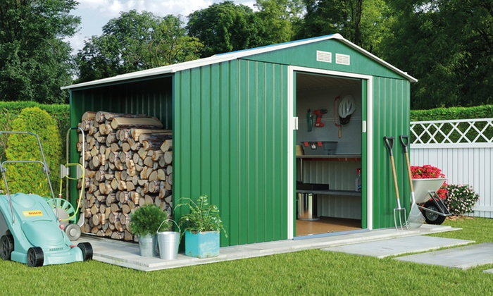 Apex Metal Shed And Log Store Groupon