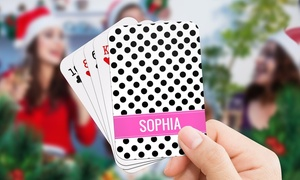 Dinkleboo: Up to Three Packs of Personalised Playing Cards from Dinkleboo (Up to 72% Off)
