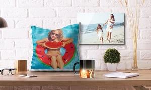 """Photo Gifts: """"Magische"""" Foto-Tasse, Foto-Kissen 40 x 40 cm oder Foto auf Acrylglas 30 x 20 cm von Photo Gifts (bis zu 78% sparen*)"""