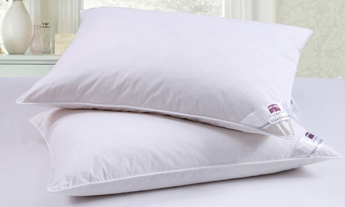 Two or Four Goose Feather and Down Pillows from £9.39