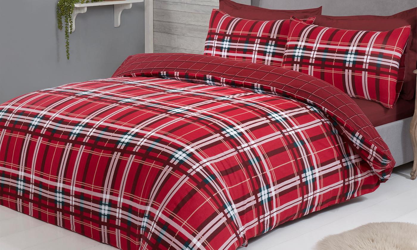 Pieridae Tartan Check Brushed Cotton Duvet Set for £14.99