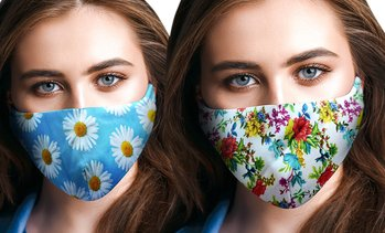 Up to 20 Assorted Floral Print Face Masks