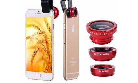 Weitwinkel-Aufstecklinse für iPhone und Android-Smartphones
