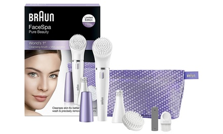 One or Two Braun Facial Epilators and Cleansing Brushes