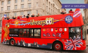 Liverpool City Sights: Hop-On-Hop-Off Guided Beatles Tour for Two Adults or a Family of Five with Liverpool City Sights (Up to 53% Off)