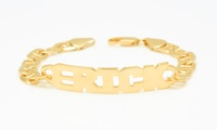 $10 for a Personalized Men's Name Bracelet Plated in Sterling Silver from MonogramHub ($132.99 Value)