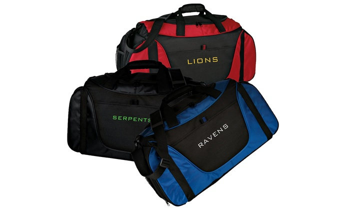 6a61b8643b Up to 42% Off Personalized Two-Tone Duffle Bags