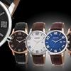 August Steiner Men's Ultra-Thin Swiss Quartz Leather Strap Watch