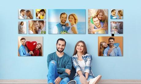 1, 2, 3, 4 o 5 foto lienzos personalizables y cuadrados en Printerpix (hasta 85% de descuento)