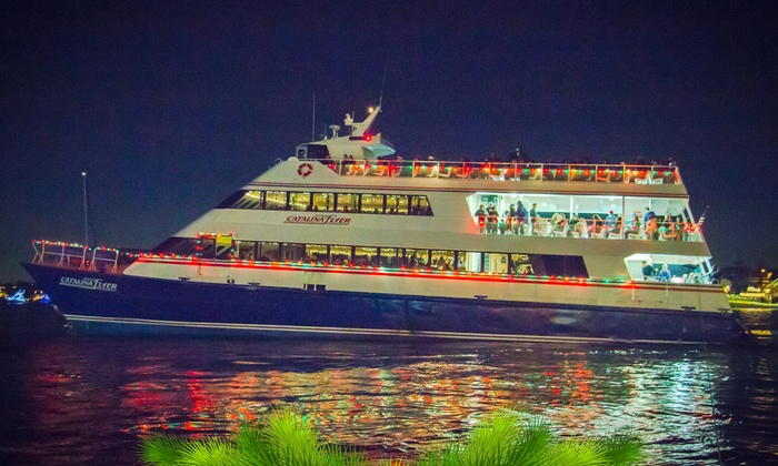 Christmas Boat Parade Cruise at The Catalina Flyer from Newport Beach (Up to 38% Off). Ten Options Available.