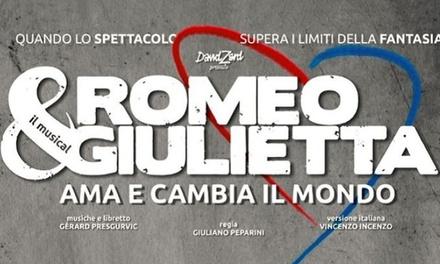 Romeo e Giulietta il Musical Ama e Cambia il mondo: 7 e 8 aprile al Teatro Carlo Felice di Genova (sconto fino a 30%)
