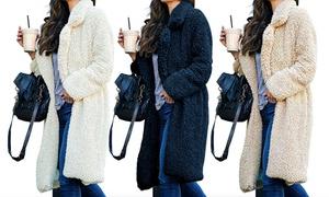 (Mode)  Manteau long en polaire  -25% réduction