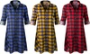 Doublju Women's Handkerchief Hem Shirt Dress. Plus Sizes Available.