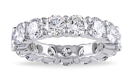 6 CTTW Cubic Zirconia Eternity Band in 18K White Gold