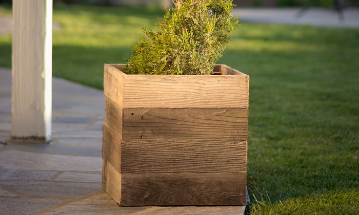 Lovely Up To 58% Off on Reclaimed Wood Planter Boxes | Groupon Goods KE02