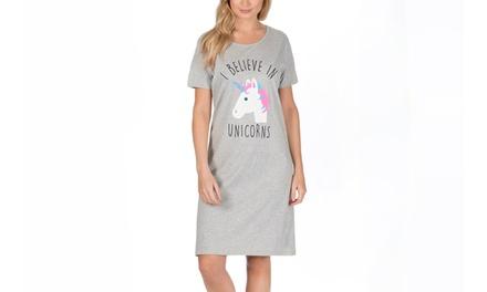 Women's Unicorn Cotton Nightdress