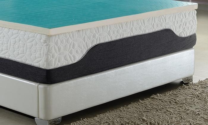 ac pacific latexfoam mattress topper with coolgel layer ac pacific latex - Gel Mattress Topper
