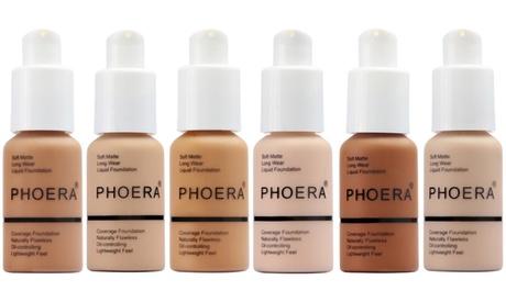 1, 2 o 3 bases de maquillaje alta cobertura de acabado mate Phoera, 10 tonos