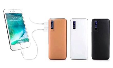 Fino a 3 powerbank da 20000 mAh, con o senza cavo compatibile Lightning® o Micro-USB, disponibile in 3 colori
