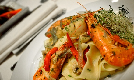 ThreeCourse Italian Dinner for Two or Four at La Risata Ristorante (Up to 57% Off)